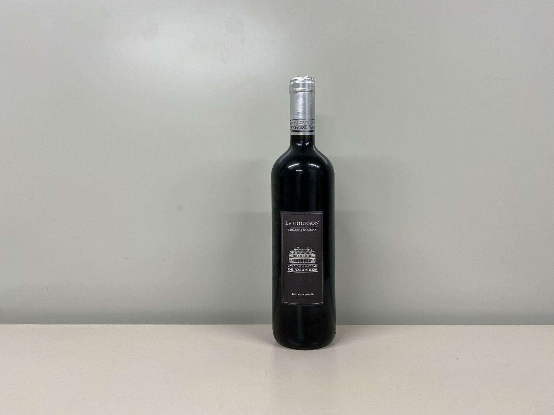 vin rouge  le courson 70 cl