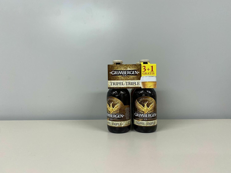 Bière Grimbergen Triple 3+1 gratis