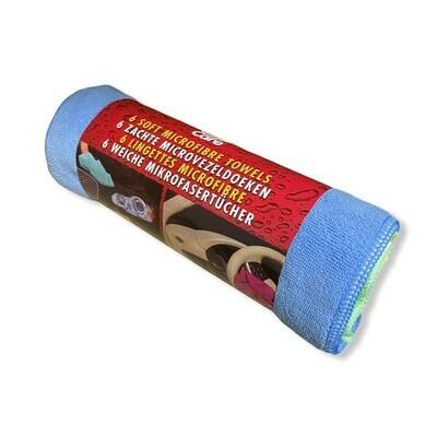 Lingettes microfibres 6 pcs