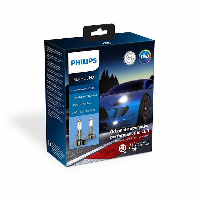 Philips Xtreme Ultinon - Led - Gen2 H7 - set - non ECE