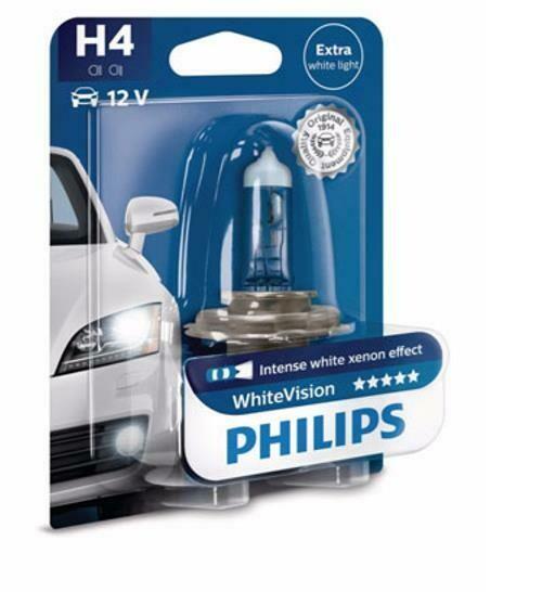 Philips H4 - 12V - 60/55W - WhiteVision - blister