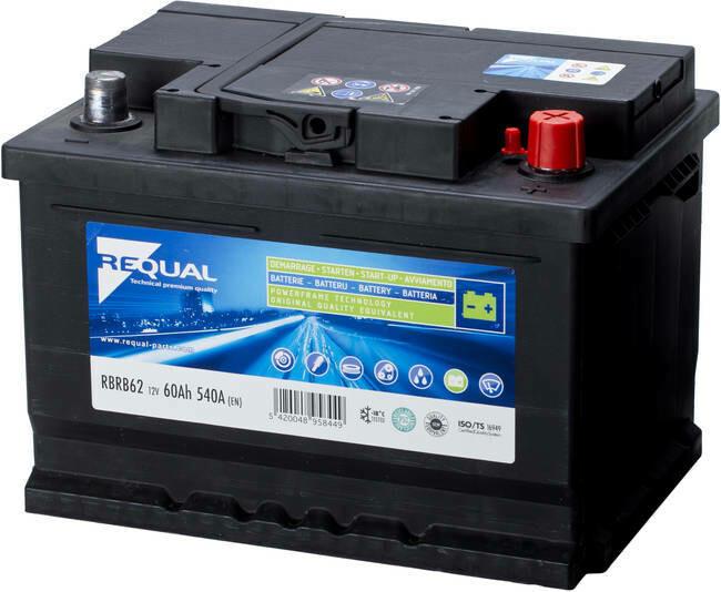 Batterie 12V 62ah 540A Basse