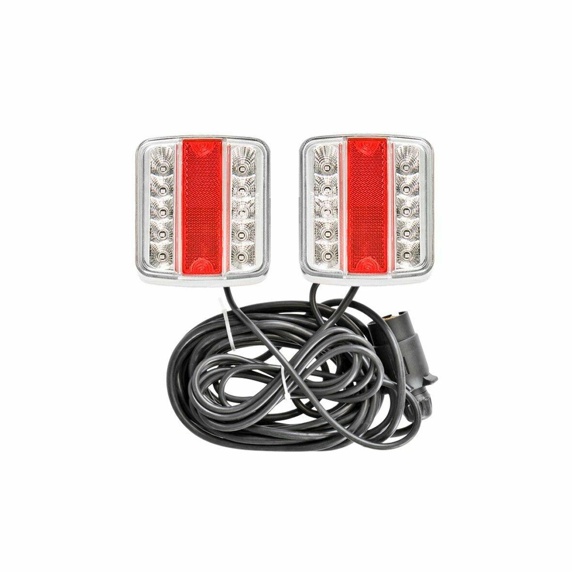 Feux remorque LED magnétique, 12 V câble 7.5m