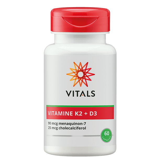 Vitamine K2 (90 mcg) + D3 (25 mcg/1.000 I.E.) - 60 capsules