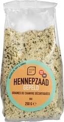 BIO Hennepzaad gepeld (250 gram)