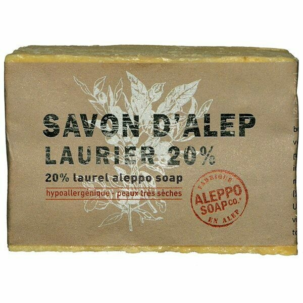 Aleppo zeep met 20% laurierbesolie (200 gram)