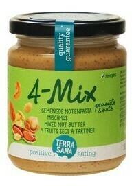 BIO 4-mix gemengde notenpasta (250 gram)