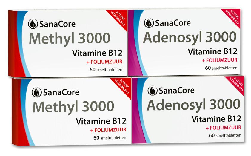 Standaardpakket Vitamine B12 kuur met Foliumzuur - 4 maanden