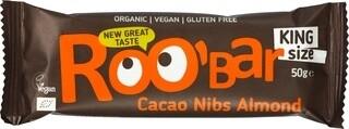 BIO RAW Bar Cacao Nibs Almond - King Size (50 gram)