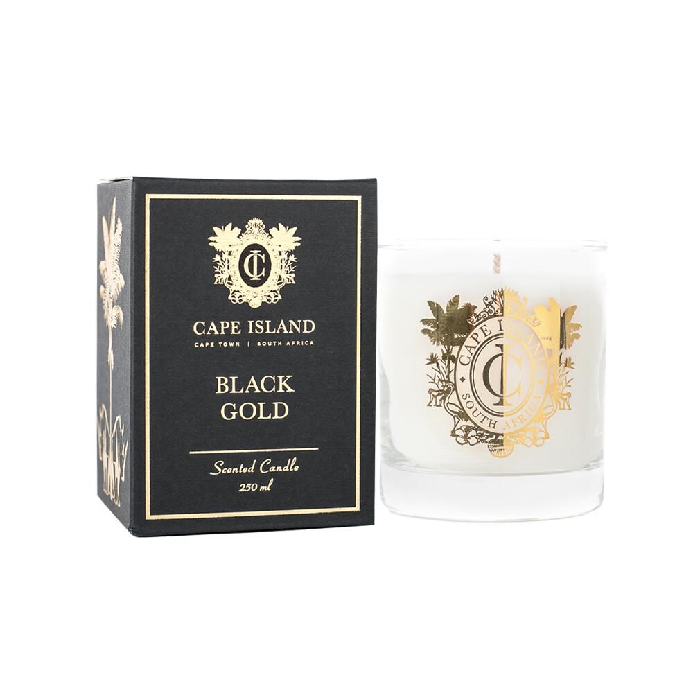 Black Gold Candle - medium 250ml