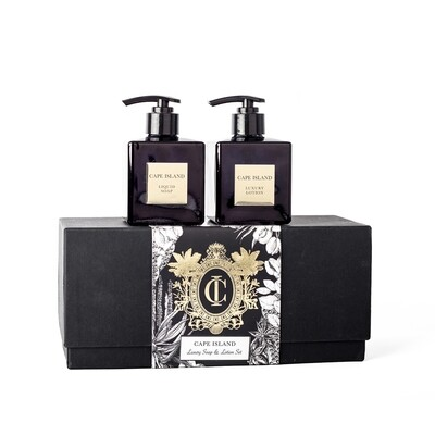 Black Gold Soap and Lotion Boxed Set
