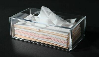 Tissue box clear Rectangular