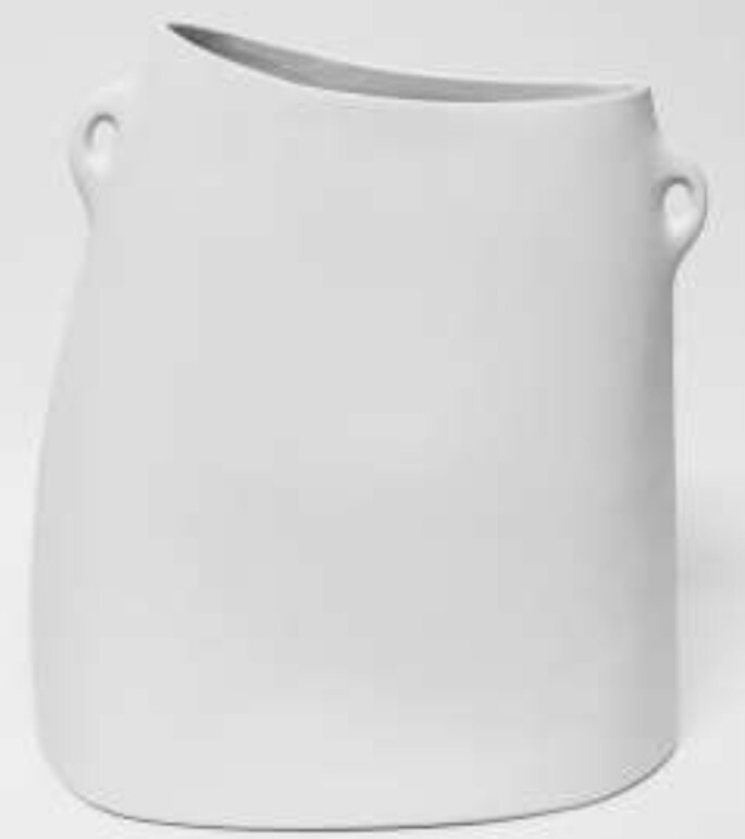 Handbag Vase 375mm x 170mm x 40mm white