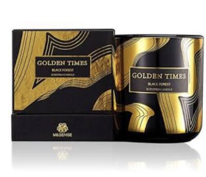M&Sense Golden Times Black Forest Luxurious Scented Large Candle
