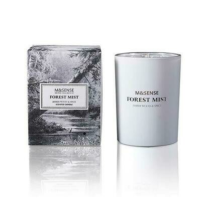 M&Sense Forest Mist Amber Wood & Spice Luxurious Scented Medium Candle