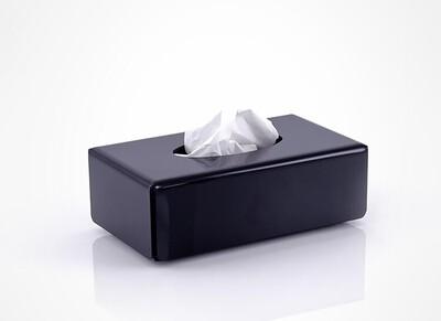 Tissue box smokey black rectangular