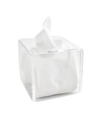 Tissue box clear square