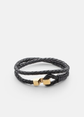 Skultana Hook Leather Bracelet - 5mm thick
