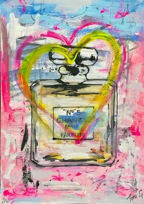 Toni G - Pop Art Poster series  #001 Sweet Scent of Love (available in various sizes specified)
