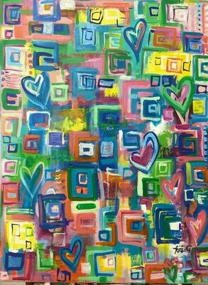 """Toni G Pop Art """"Love Squared"""" Pop Art Print series #007"""