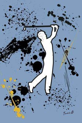 """Toni G Pop Art  """"Love Golf 1"""" Print Series #008"""