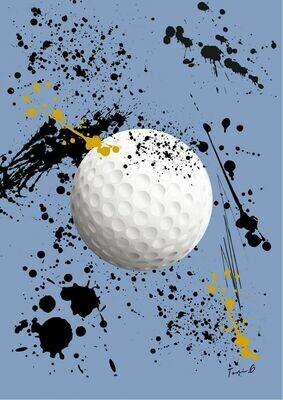 """Toni G Pop Art """"Love Golf 2"""" Print Series #009"""