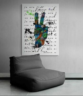 "Toni G Pop Art Print ""Rainbow Peace"" #010"