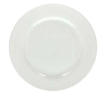 The  Circle white Porcelain 26cm  Dinner Plates - Set of 6