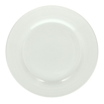 The Circle white Porcelain 21cm Dessert Plates - Set of 6