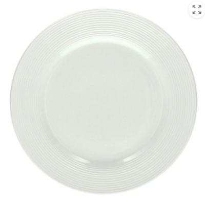 The Circle white Porcelain 21cm Soup Plates - Set of 6