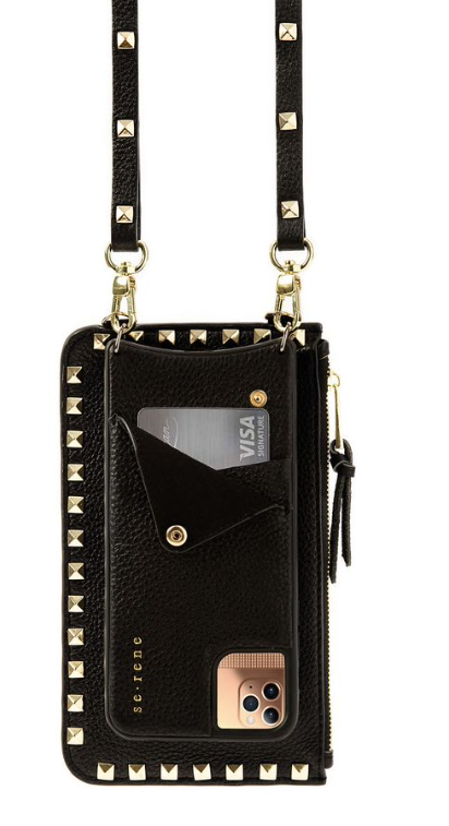 Black Leather Cell Phone Case & Pouch for iPhones