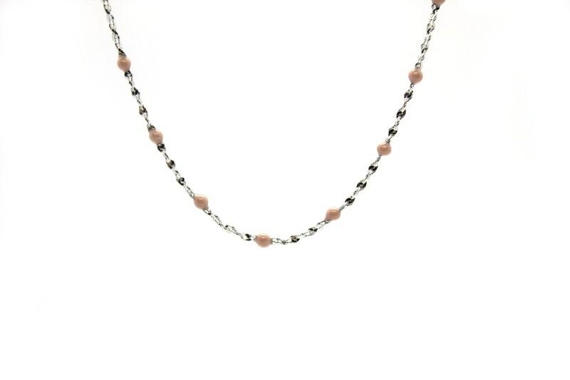 Collier Gigy - Perles Beige