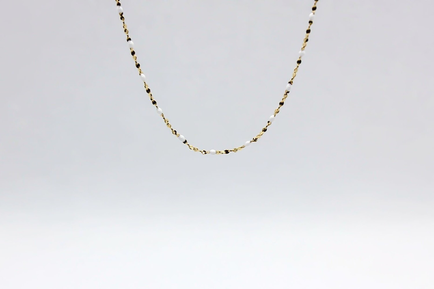 Collier Gigy - Perles Blanche