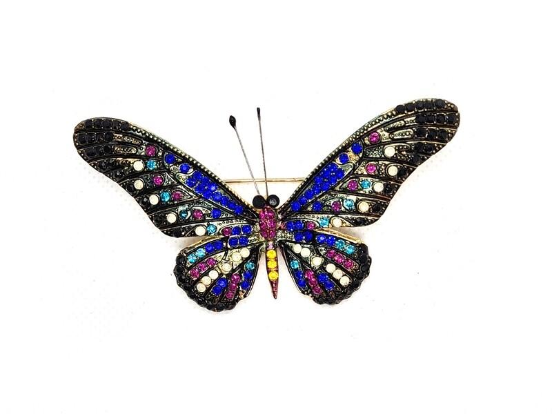 Broche Papillon - Multicolore