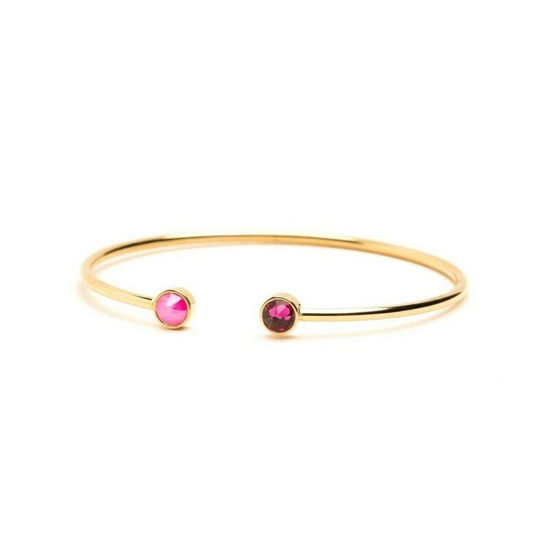 Bracelet Pauline - Rose néon