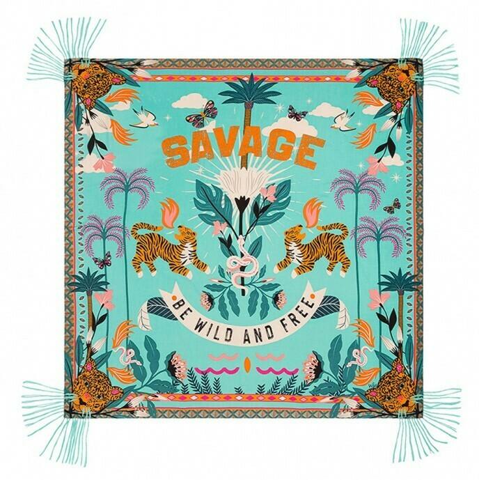 Foulard Savage - Turquoise