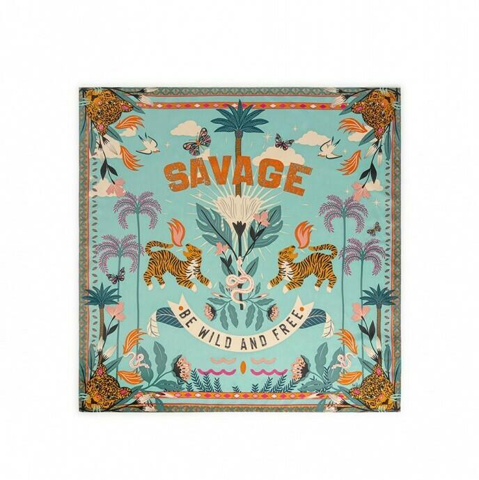 Mini Foulard Savage - Turquoise