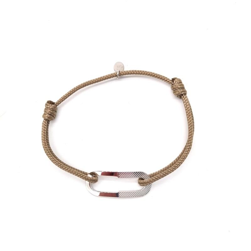 Bracelet Camille lisse et guilloché