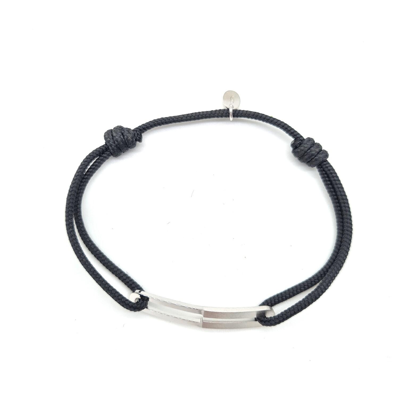 Bracelet Maxime lisse et brossé slim
