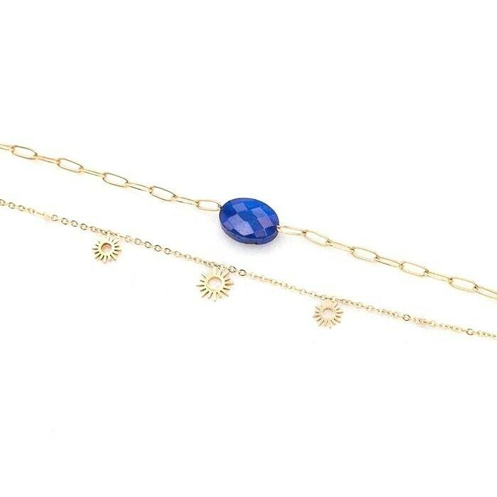 Bracelet Triple Soleil - Lapis lazuli