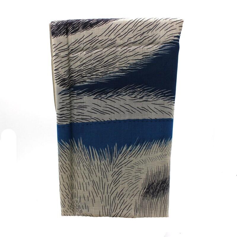 écharpe en laine - frères - bleu