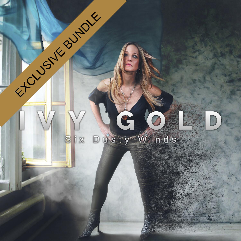Ivy Gold - Six Dusty Winds, ltd.ed. CD, bundle