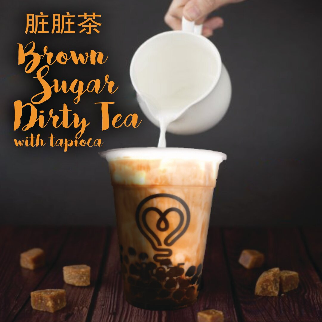 Brown Sugar Dirty Tea with Tapioca