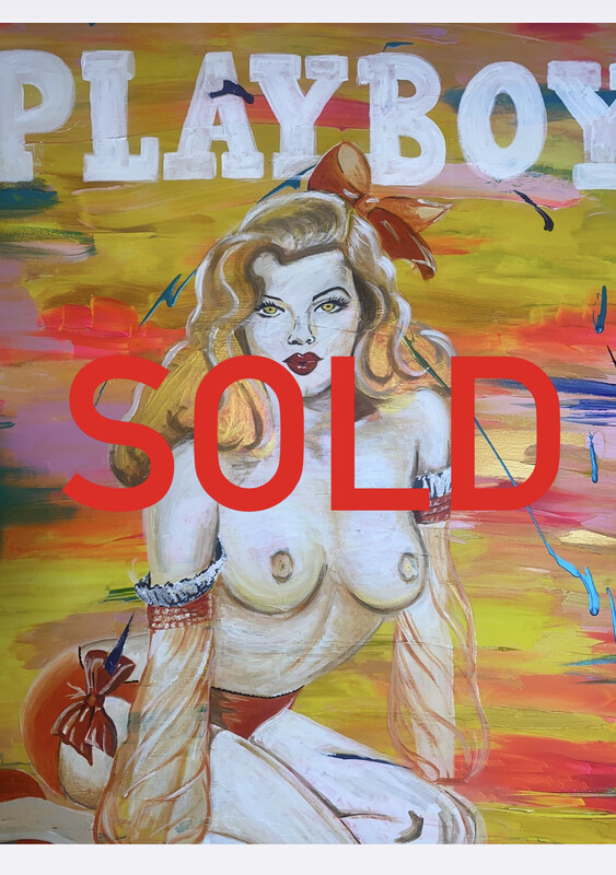 SOLD • PLAYBOY 3 - 100cm X 150cm (6 HQ Prints available - £625)