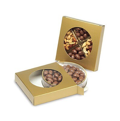 Box with Die Cut Circle - Gold (6