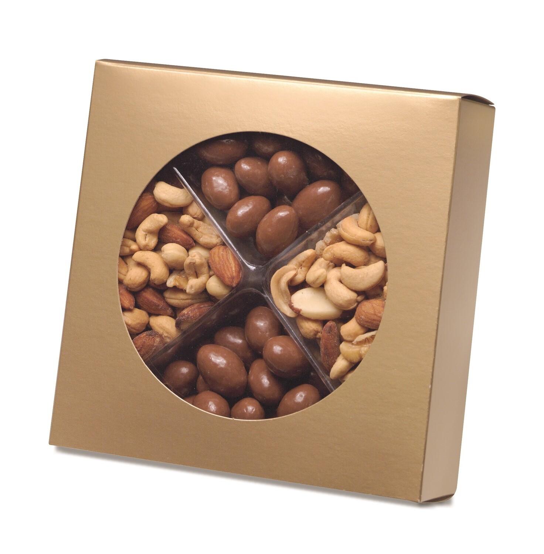 """Box with Die Cut Circle - Gold (7"""" x 2 1/4"""")"""
