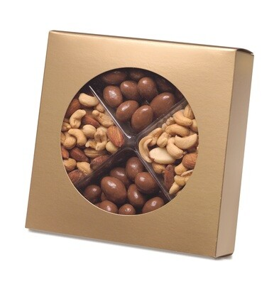Box with Die Cut Circle - Gold (7