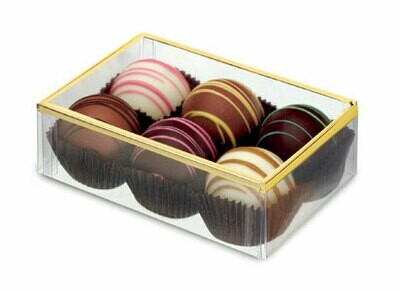 """Box with Gold or Silver Border Lid (4 1/2"""" x 3"""" x 1 3/8"""")"""