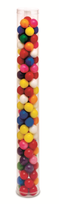 """Cylinder with Plastic Bottom & Top (1 1/2"""" x 12"""")"""