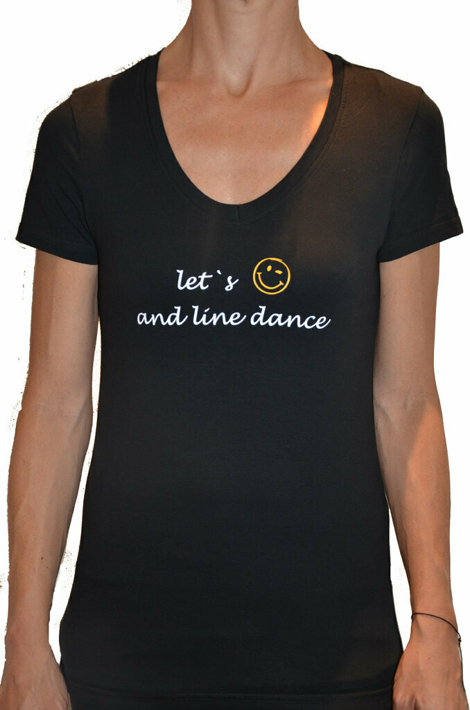 Let's smile and line dance
